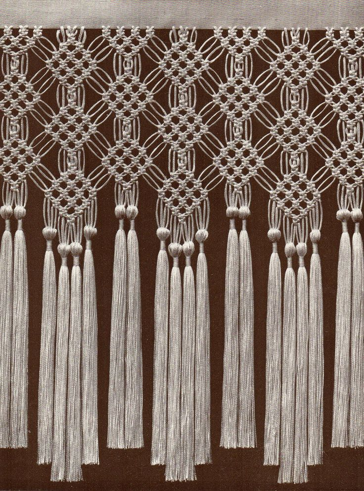 2546 best images about learn the art of macrame on for Simple curtain patterns