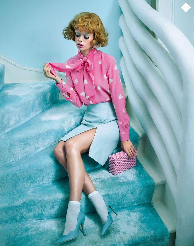Frida Aasen by Sandrine Dulermo & Michael Labica for Stylist London February 17th, 2015