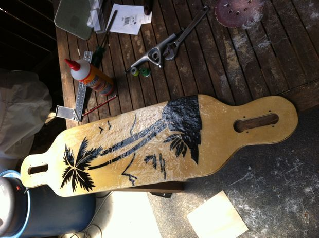 Picture of Longboard - Finishing
