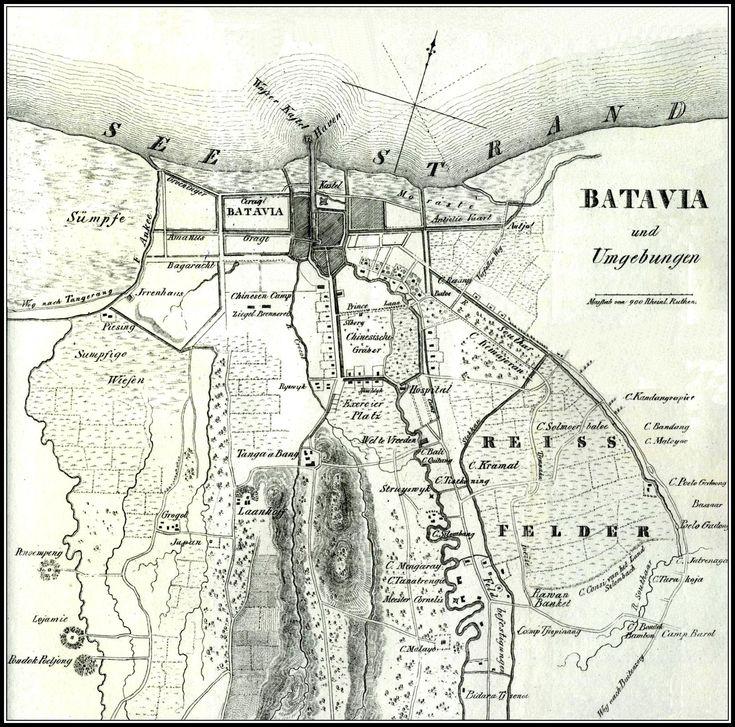 Kaart van Batavia, 1840.