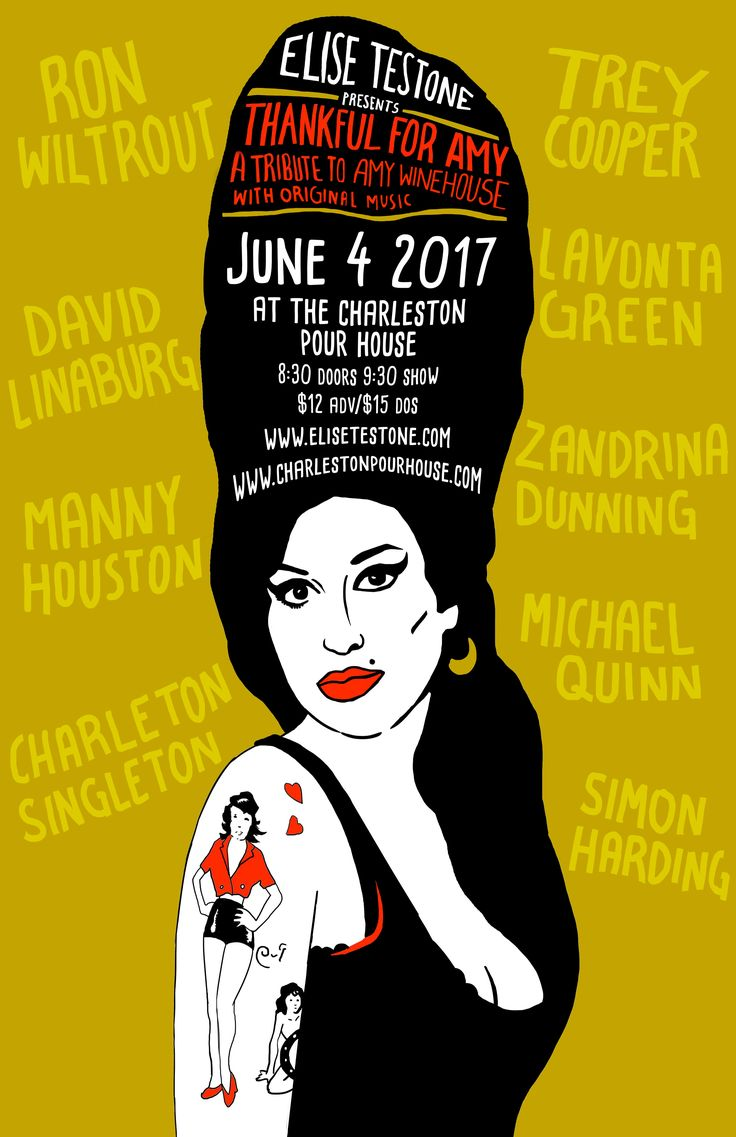 Elise Testone Presents Thankful For Amy :: Sunday, June 4th :: The Charleston Pour House :: Charleston, SC