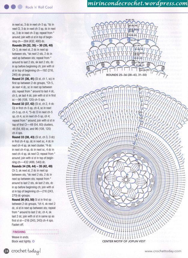 284 best chalecos tejidos images on Pinterest   Crochet tops ...