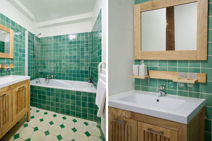 la salle de bain verte id es d co et photo salle de. Black Bedroom Furniture Sets. Home Design Ideas