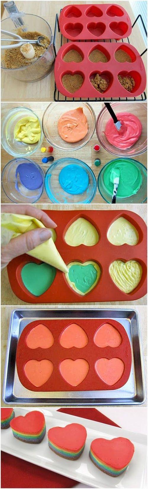 Diy Mini Rainbow Cheesecakes | DIY Crafts Tutorials