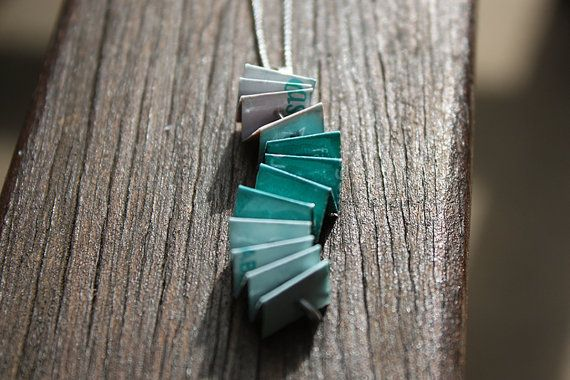 The real teal treasury by Helen on Etsy - featuring The Teal Wavy Concertina Necklace by ThePaperer - https://www.etsy.com/au/listing/187223993/unique-paper-necklace-wavy-concertina