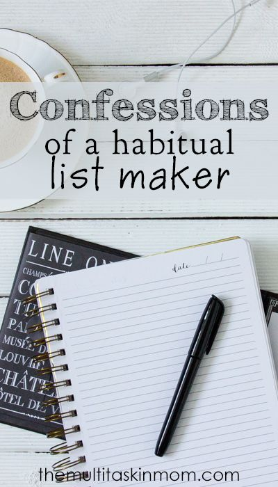Confessions of a habitual list maker and what I use