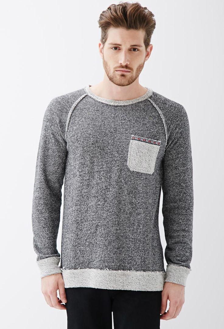 Reverse Paneled French Terry Sweatshirt Mens Sweatshirts Hoodie Sweatshirts Hoodies Men [ 1080 x 736 Pixel ]