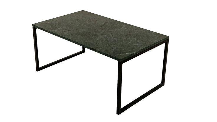 Jaguaren grönt marmorbord. Soffbord med svarta metallben. Marmor, metallram, svart metall, marmorskiva, grön marmor, vardagsrum.  http://sweef.se/bord/173-jaguaren-soffbord-i-marmor-100x60cm.html#/farg-gron