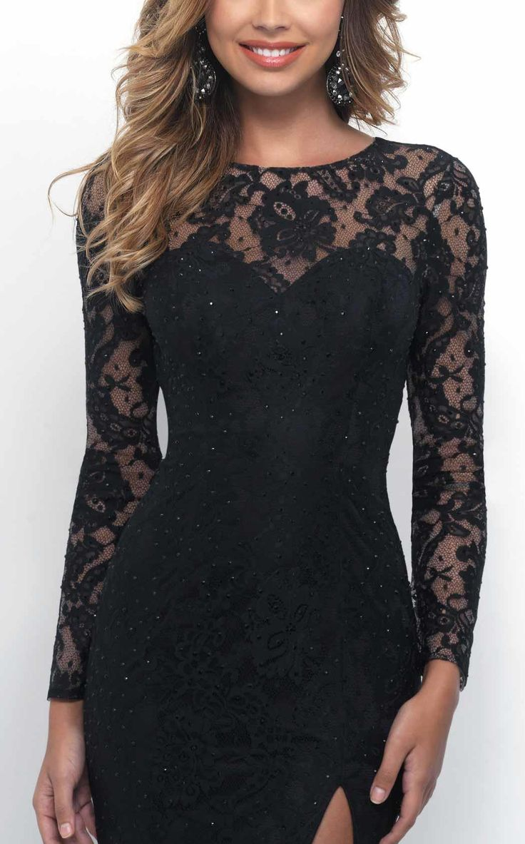 INTRIGUE 258 Black Open Back Gown - BLK