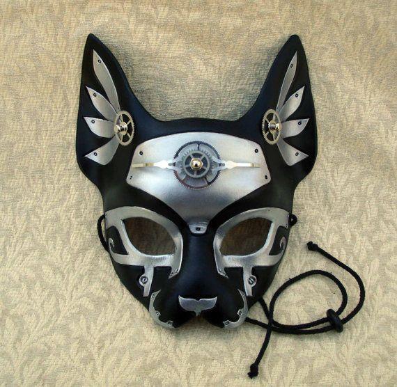 Industrial Bast V3 ... original mixed media handmade steampunk egyptian cat mask
