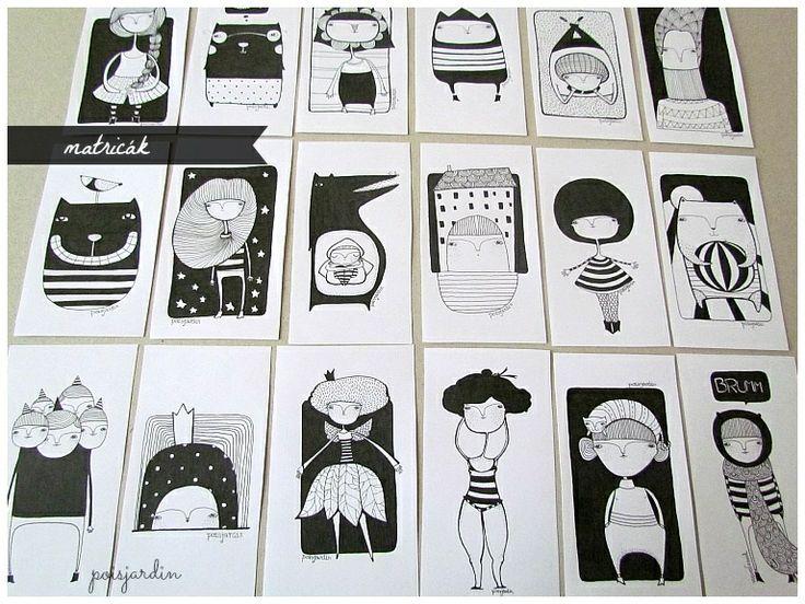 Handmade stickers. (www.facebook.com/poisjardin)