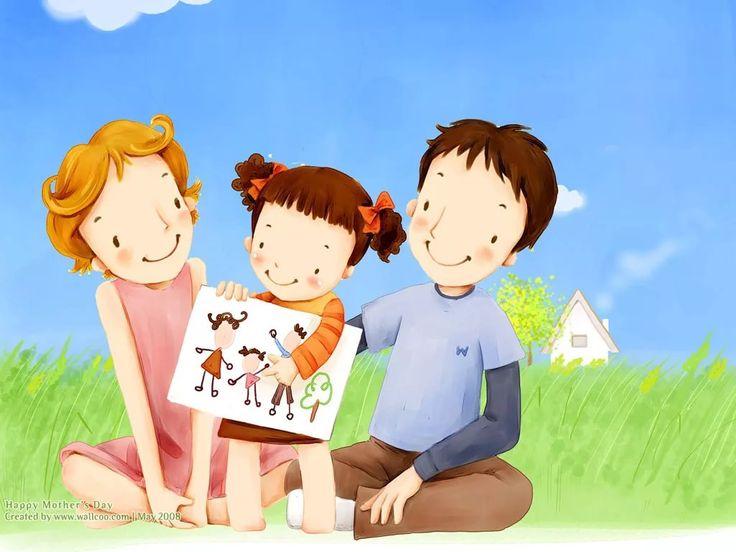 Картинки дети с родителями для детей