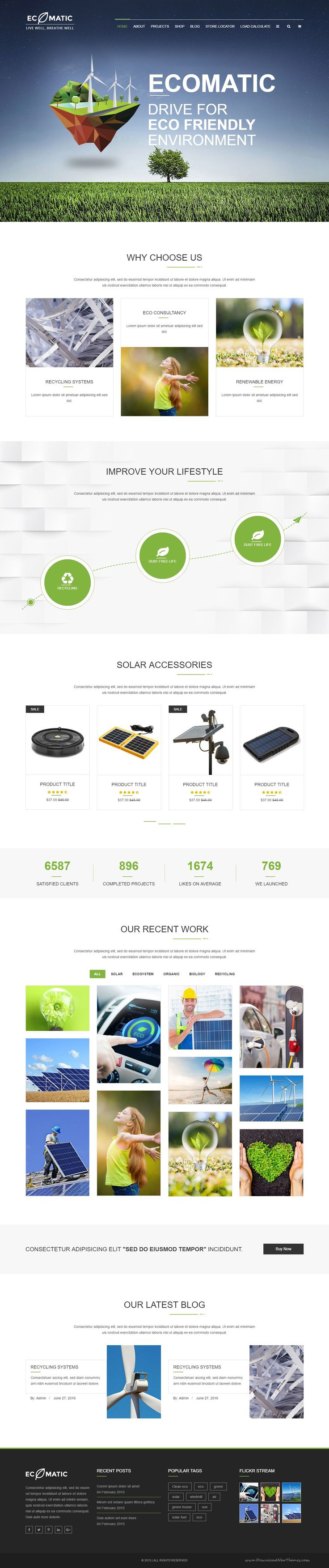 Ecomatic Responsive HTML Template for Renewable