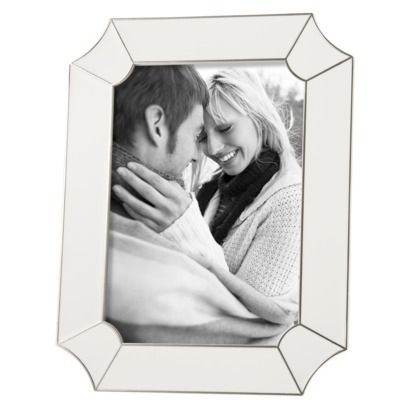 target threshold enamel frame white 5x7