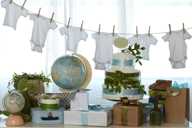 Love the travel theme for a baby shower. #babyshower @HUGGIES Baby Shower Planner