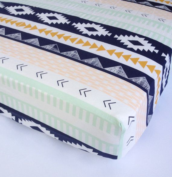 Tribal Baby Bedding - Changing Pad Covers or Crib Sheets - Standard or Mini Crib Sheets / Aztec Nursery Bedding / Babiease Baby Boutique