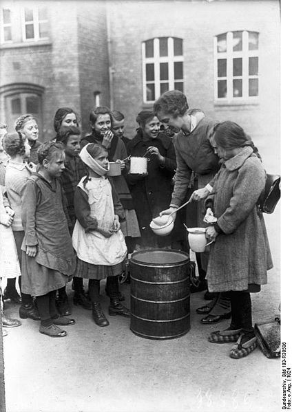 Feeding the poor children in Berlin in the twenties.