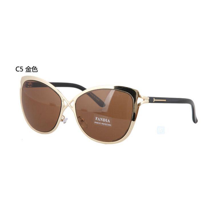 Cat eye sunglass High quality Tom sunglasses fashion ford eyeglasses glasses new big size Metal sunglasses