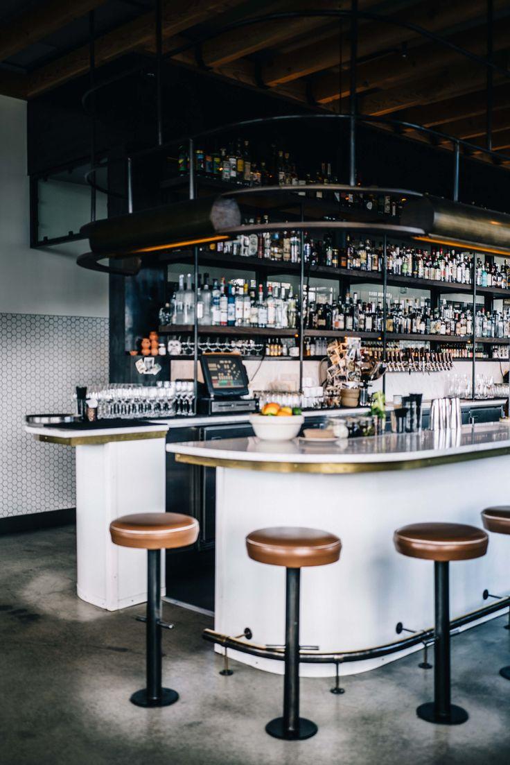 The bar at Basalt Restaurant in Napa, The Taste SF