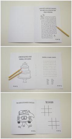 libro para niños imprimible para entretenerlos el dia de la #boda