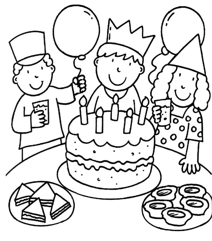 Verjaardagskleurplaat