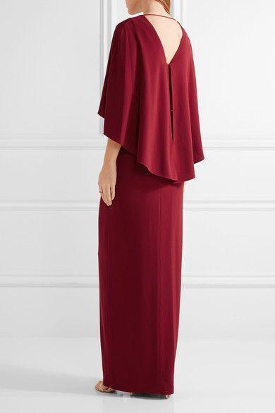 Halston Heritage | Кабо-назад креп платье | NET-A-PORTER.COM