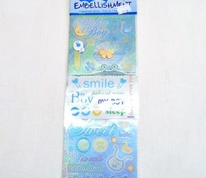 Baby Boy Sticker Embellishments on sale for R47.50  | Paradise Creative Crafts cc
