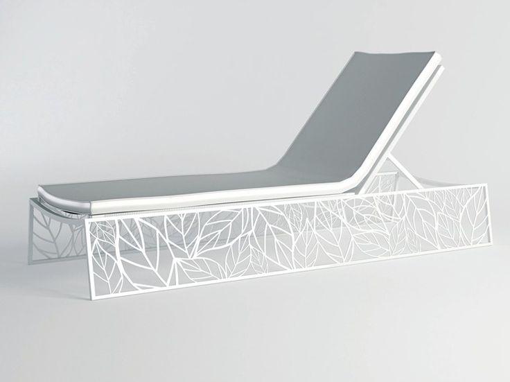 Chaise longue de jardin inclinable en aluminium NUBO Collection SUNLOUNGERS by 10Deka