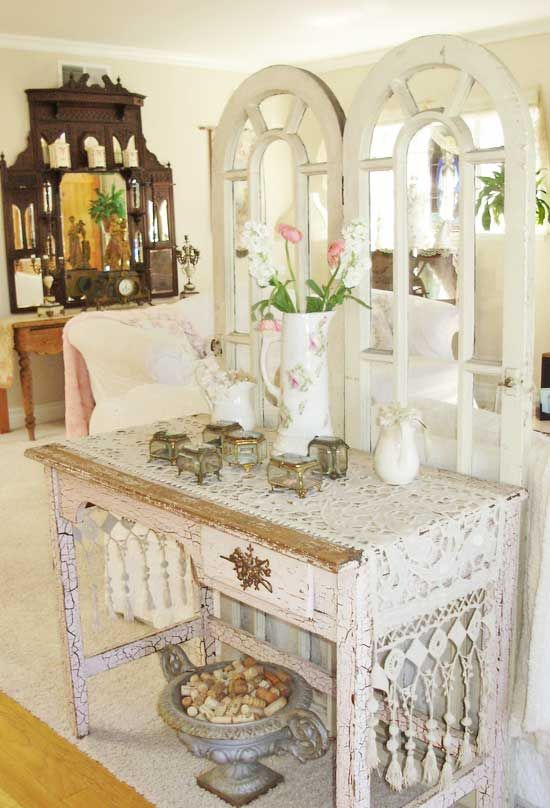 Shabby Chic-Love this as a room divider