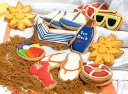 beach cookies in the sand (brown sugar)!!