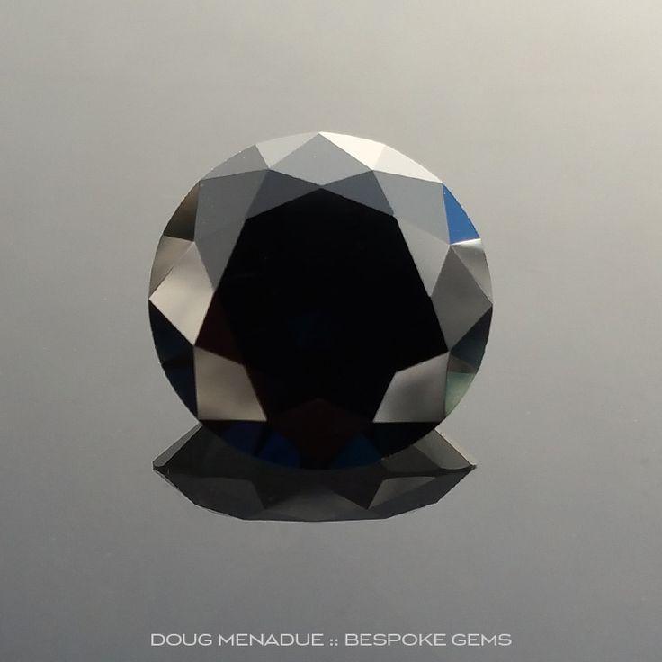 Black Sapphire, Round Brilliant, Rubyvale, Central Queensland, Australia, 6.58 Carats, 11.6X11.6X6.82mm, #203131, A magnificent natural black sapphire from the Australian sapphire gemfields. Doug Menadue :: Bespoke Gems