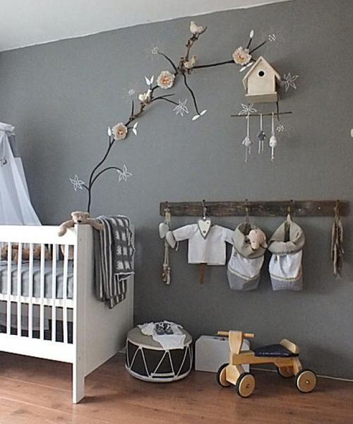 tonos grises y elegantes para la habitacin del beb