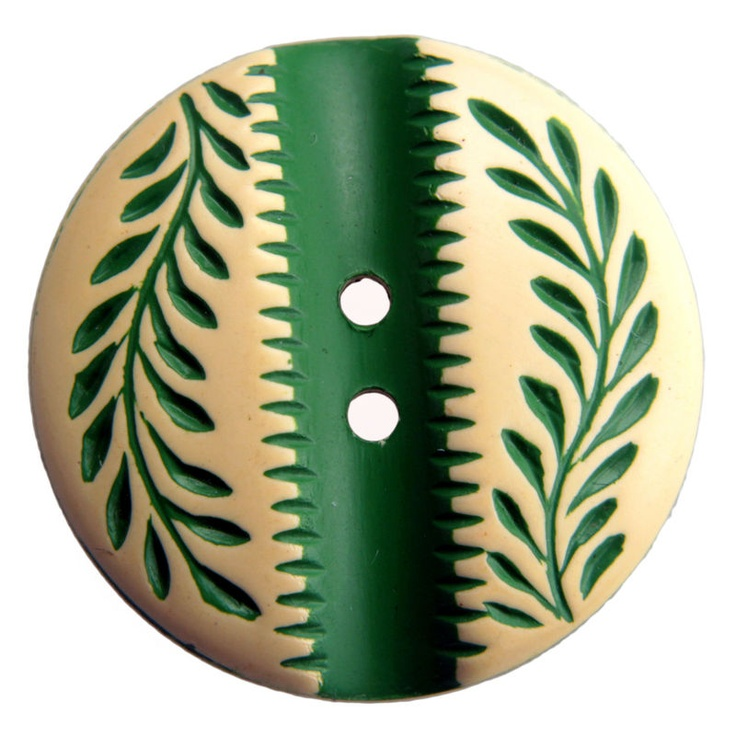 Vintage Buffed Celluloid Button