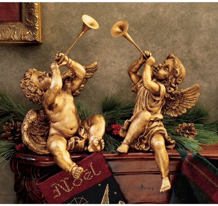 XoticBrands Baby Cherub Angel of St. Peters Square Inspired By Gian Lorenzo Berninis Ange... : Angel & Cherub Statues