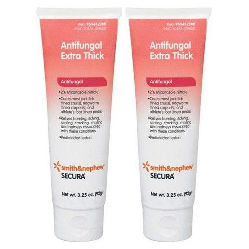 #Secura Antifungal Extra-Thick Cream 3-1/4 oz Secura Antifungal Cream is indicated for the cure of tinea cruris (jock itch), tinea corporis (ringworm) and tinea ...