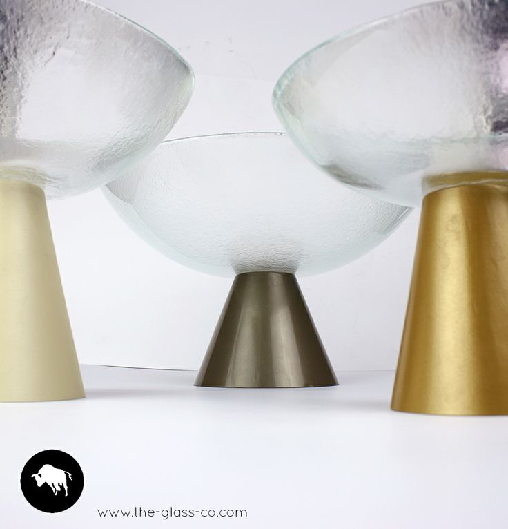 Bowls on metal stands. Perfect for VIP amenities presentation! Designed by Glass Studio