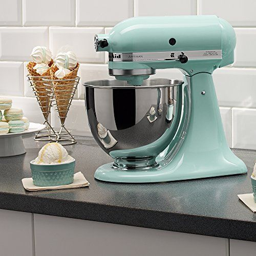 Looking for a KitchenAid Artisan Stand Mixer in Ice Blue? We have them in stock and available online! Only at StandMixers.ca!