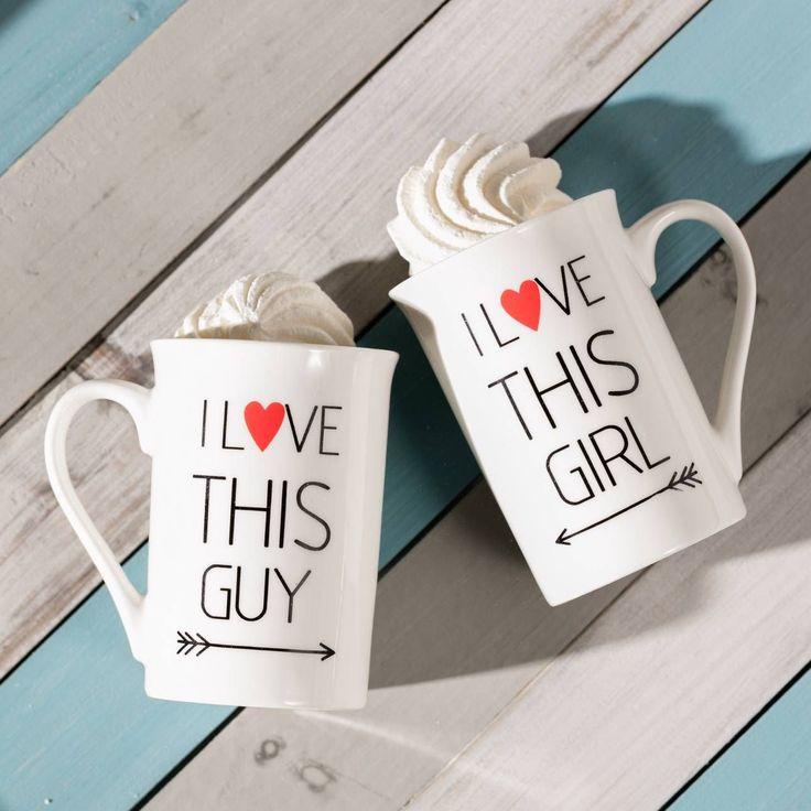 Valentine's mugs. #dekoria #mugs #valentine #forher #forhim #love #couple #valentines2017 #gift #bedroom #walentynki #prezent #coffee