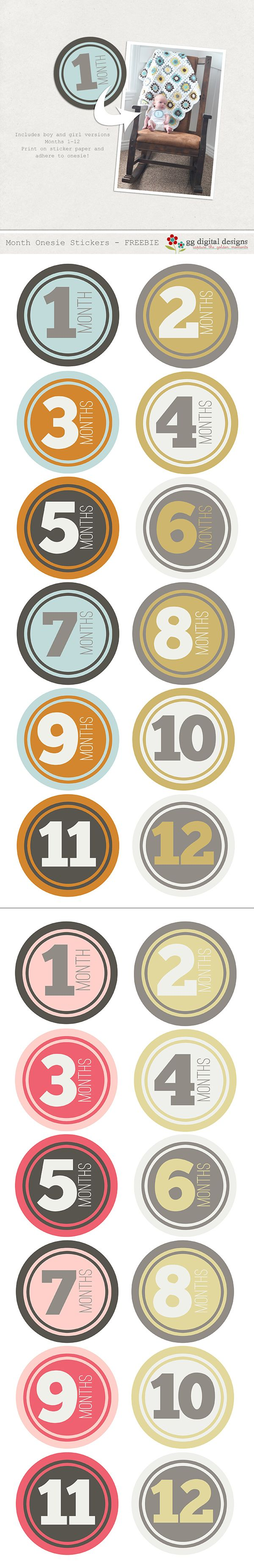 Free number graphics (Age in months for baby ...for a boy or a girl )