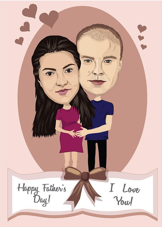 Custom Greeting Card Caricature Wedding Or Anniversary Card