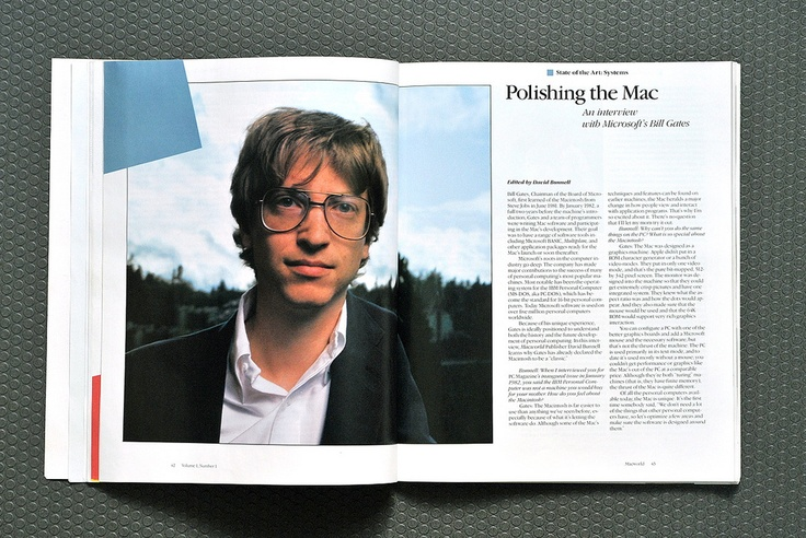 Bill Gates in the Premier issue of MacWorld 1984