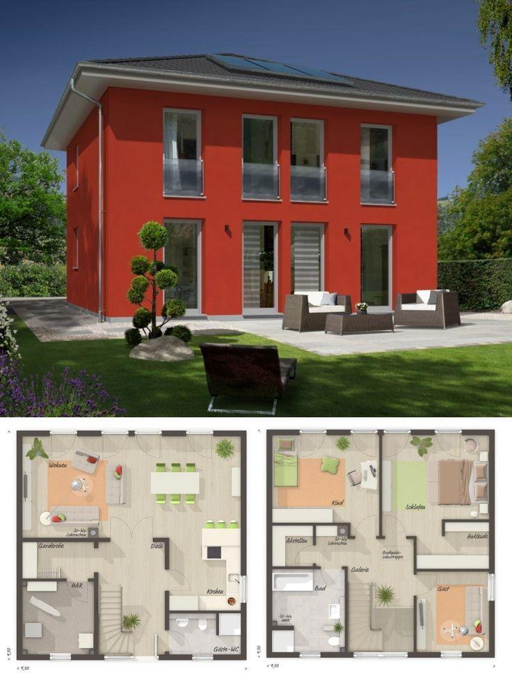 Stadtvilla Neubau Modern Grundriss Mit Zeltdach Architektur