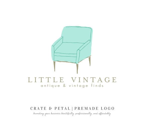 furniture stores logos. Premade Vintage Chair Logo Design Antique Store By CrateAndPetal Furniture Stores Logos
