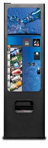 Can & Bottle Soda Vending Machine - 6-Selections. Compact vending machine with high-tech features