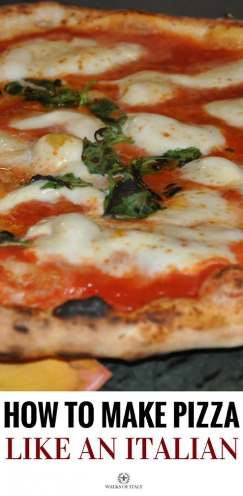 A delicious Italian pizza fresh out of the oven . A Guide for How to make the perfect Italian Pizza.