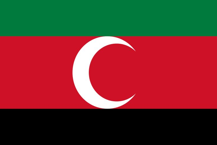 The flag of the Sultanate of Darfur (1603-1874, 1898-1916).More Pins Like This At FOSTERGINGER @ Pinterest