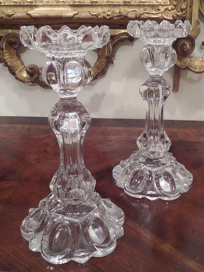 candelieri in vetro di baccarat