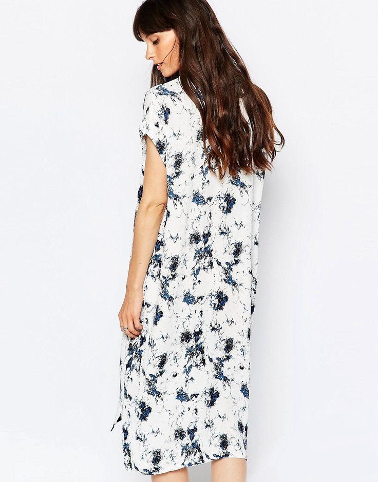 Image 2 ofJust Female New Marbel Dress in White Print