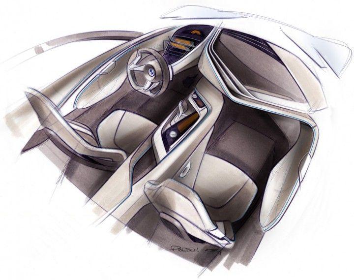 BMW Vision EfficientDynamics Interior Design Sketch.
