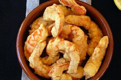 Gambas en Gabardina - Coated shrimps